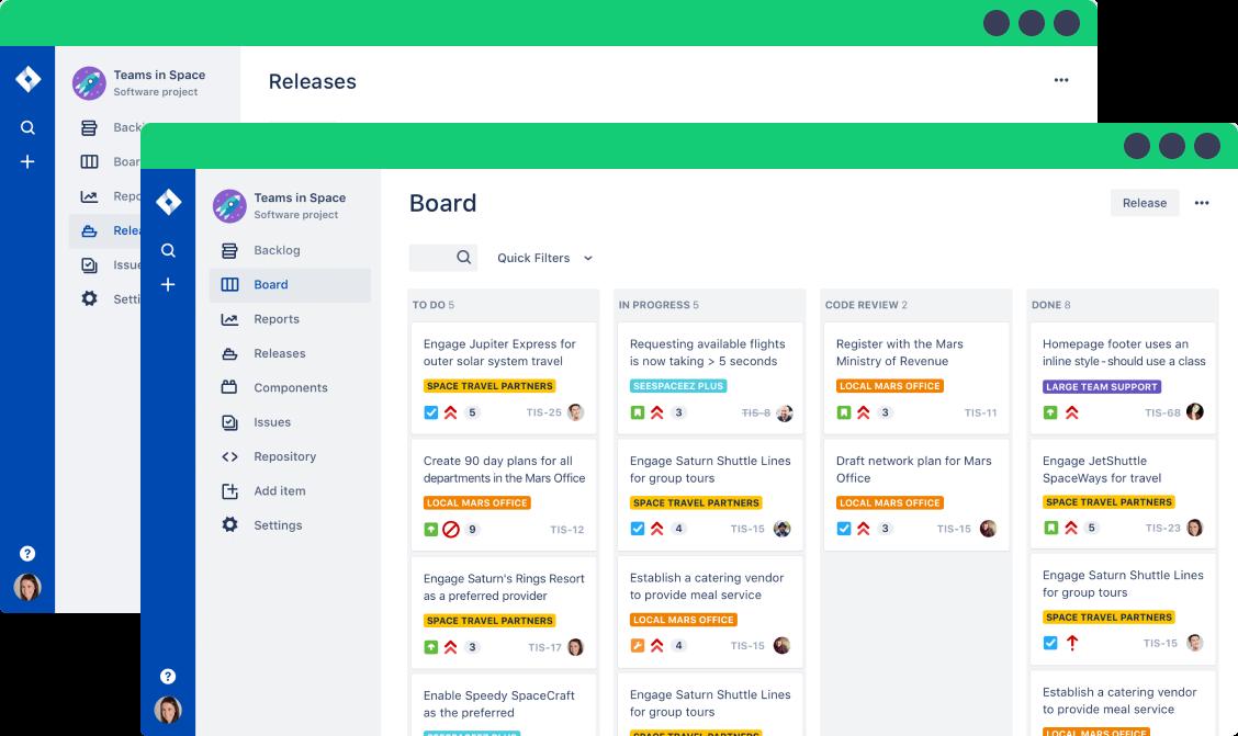 screenshot of jira interface