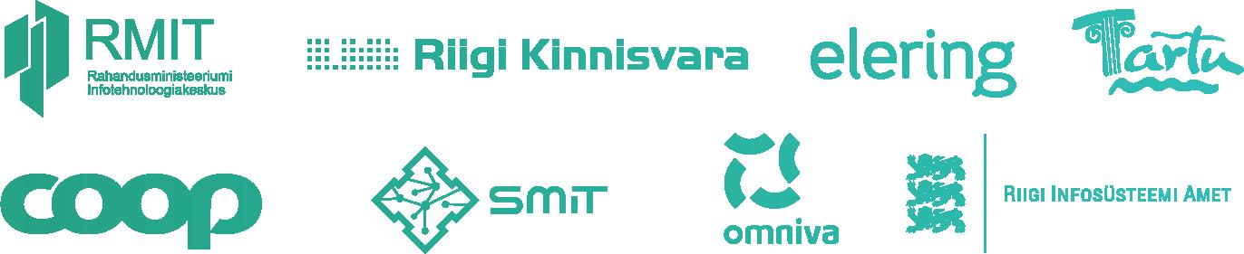 Rahandusministeeriumi Infotehnoloogiakeskus, Riigi Kinnisvara, Elering, Tartu, Coop, Smit, Omniva, Riigi Infosüsteemi Amet