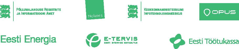 Põllumajanduse Registrite ja Informatsiooni Amet, Helmes, Keskonnaministeerium, Opus, Eesti Energia, Eesti E-tervis Sihtasutus, Eesti Töötukassa